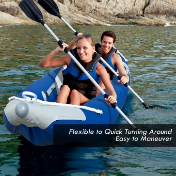 NEW Bestway INFLATABLE Kayak Sit-on Double Twin Fishing Ocean Canoe Pump Paddles