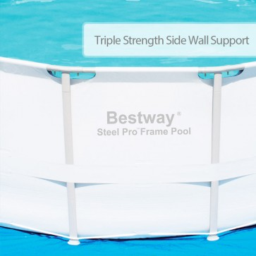 NEW BESTWAY ABOVE GROUND SWIMMING POOL Steel Frame Filter Pump 16ft 488cm 56266