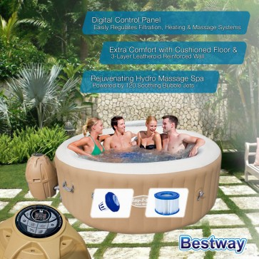 NEW BESTWAY IN/ OUTDOOR PORTABLE LAY-Z SPA PALM SPRINGS Inflatable Hot Tub Massage Bath Pool