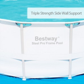 NEW BESTWAY ABOVE GROUND SWIMMING POOL Steel Frame Filter Pump 56263 14ft 427cm